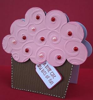 Made using the cupcake shape from Cricut's Create a Critter cartridge