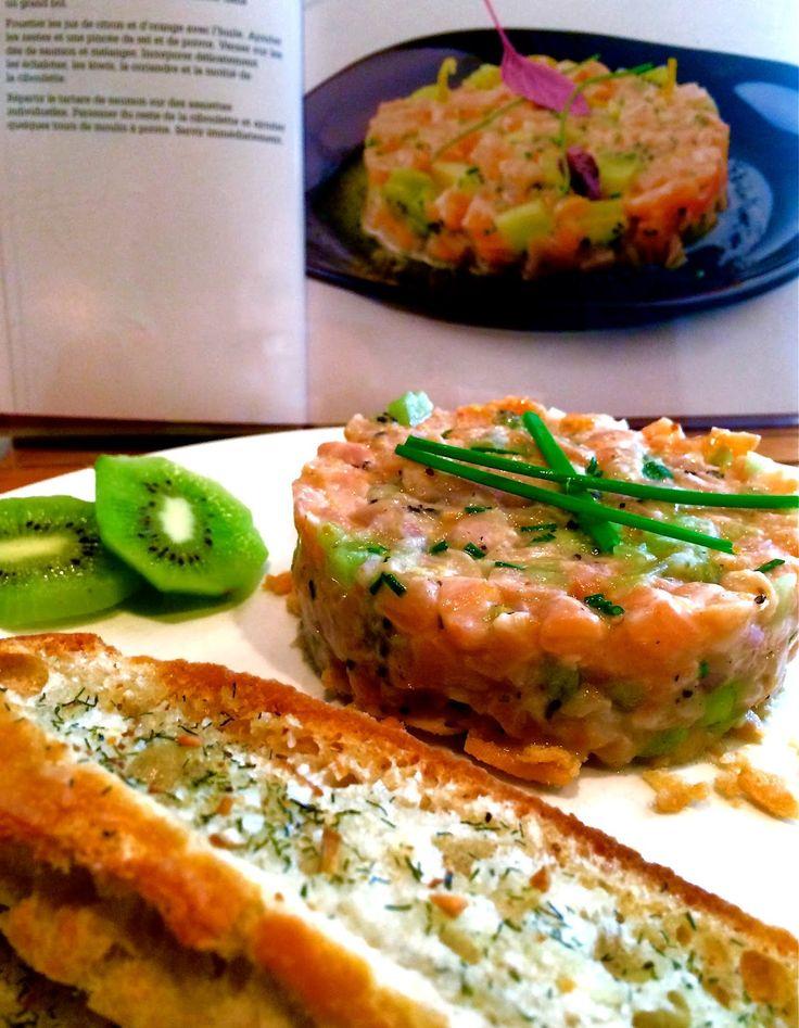 Madame Anne aux fourneaux: Tartare de saumon aux kiwis