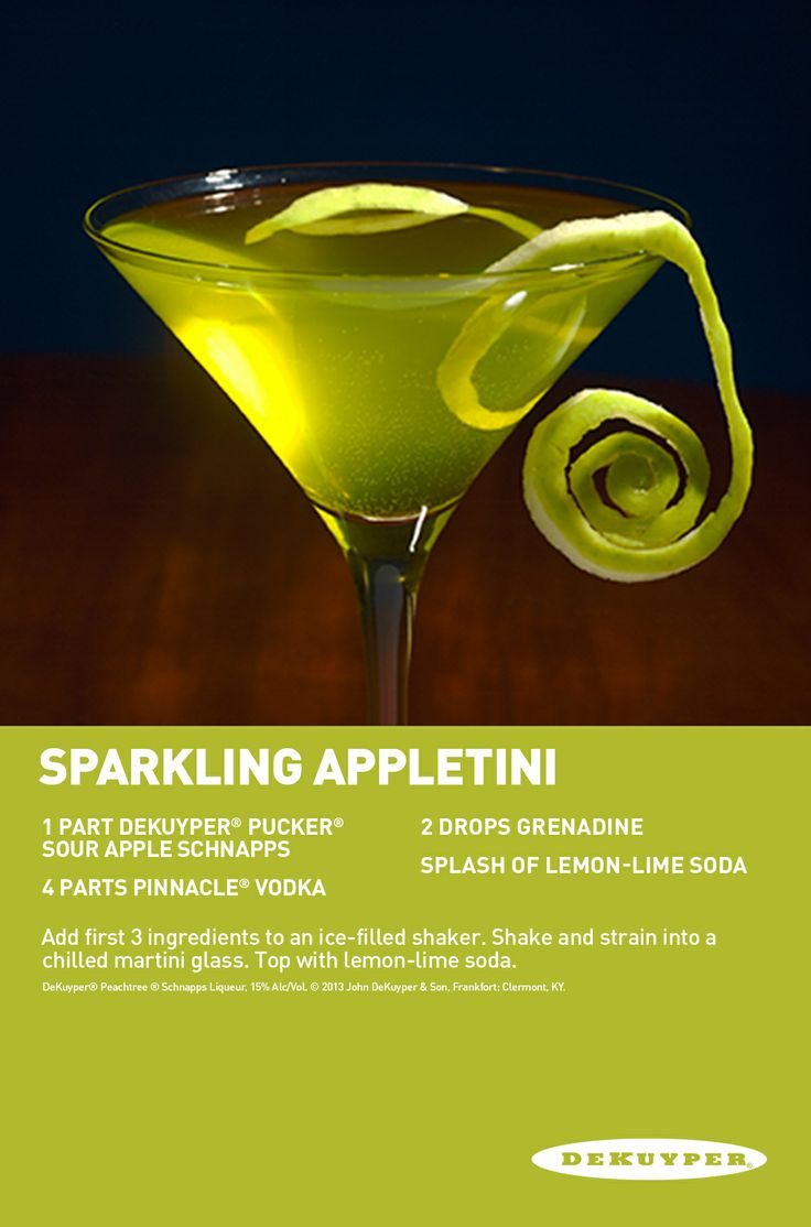 23 best pucker sour apple schnapps cocktails images on for Fun dip mixed drink
