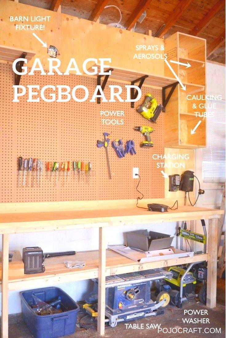 Garage Pegboard Ideas Organization Tools Wall Board