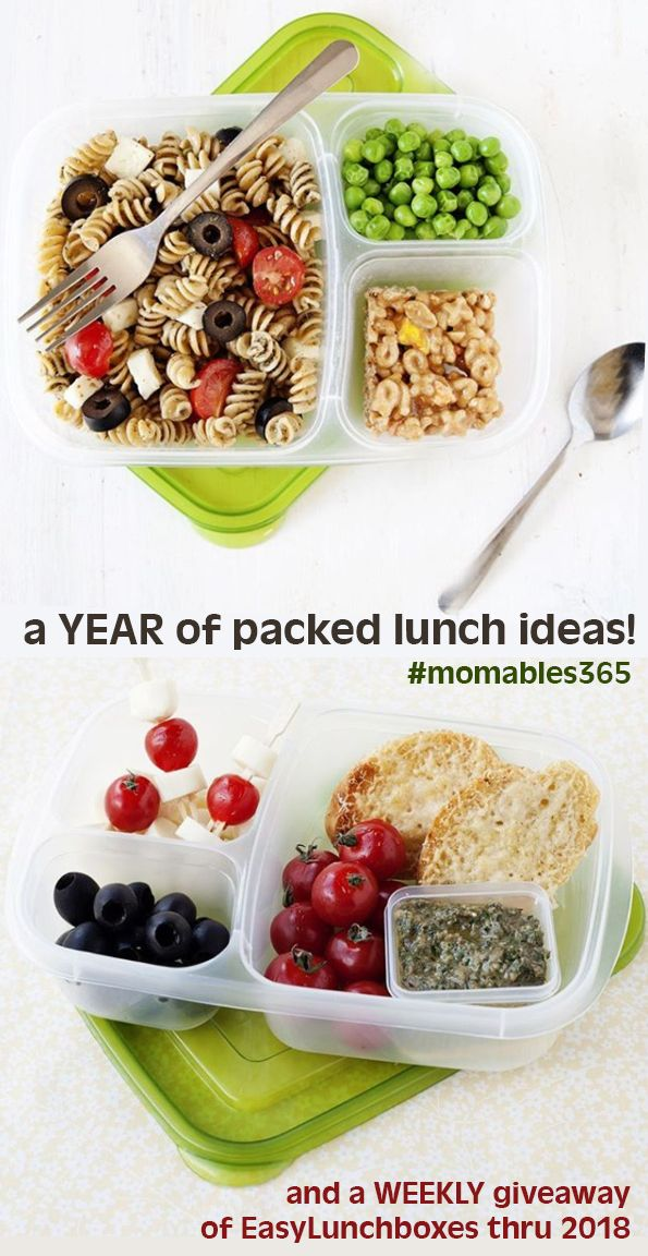 a YEAR of packed lunch ideas. And an EasyLunchboxes GIVEAWAY, every week through 2018
