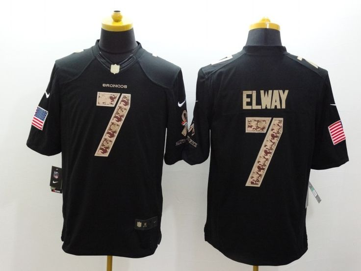 2b39c664bfb 2016 New NFL Jerseys httpwww Cheap Wholesale Mens Denver Broncos 7 John  Elway Nike Black Salute To Service Jersey Size ...