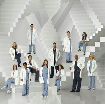 Functionele kleuren: artsen = witte jassen