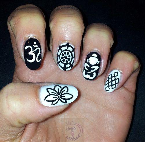 Nail art Buddhism by daysofnailartnl - Nail Art Gallery nailartgallery.nailsmag.com by Nails Magazine www.nailsmag.com #nailart