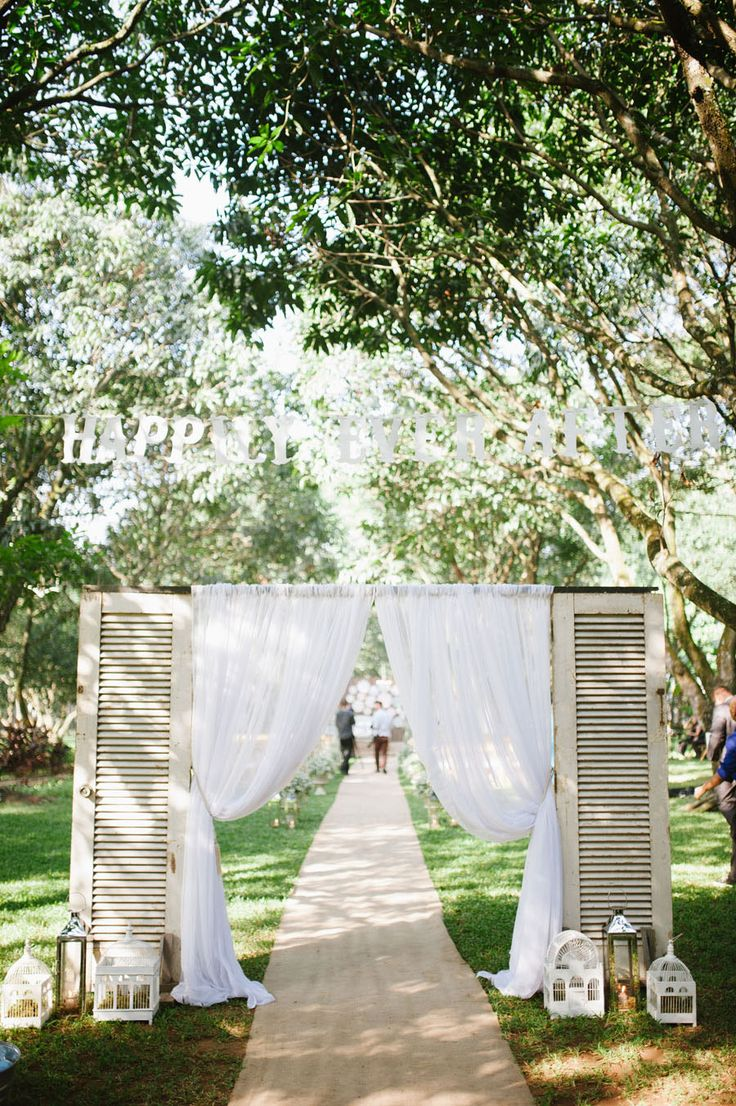 backyard wedding ceremony decoration ideas%0A aisle  See More  Rayan and Marinelle u    s Beautifully Crafted Wedding At The  Mango Farm