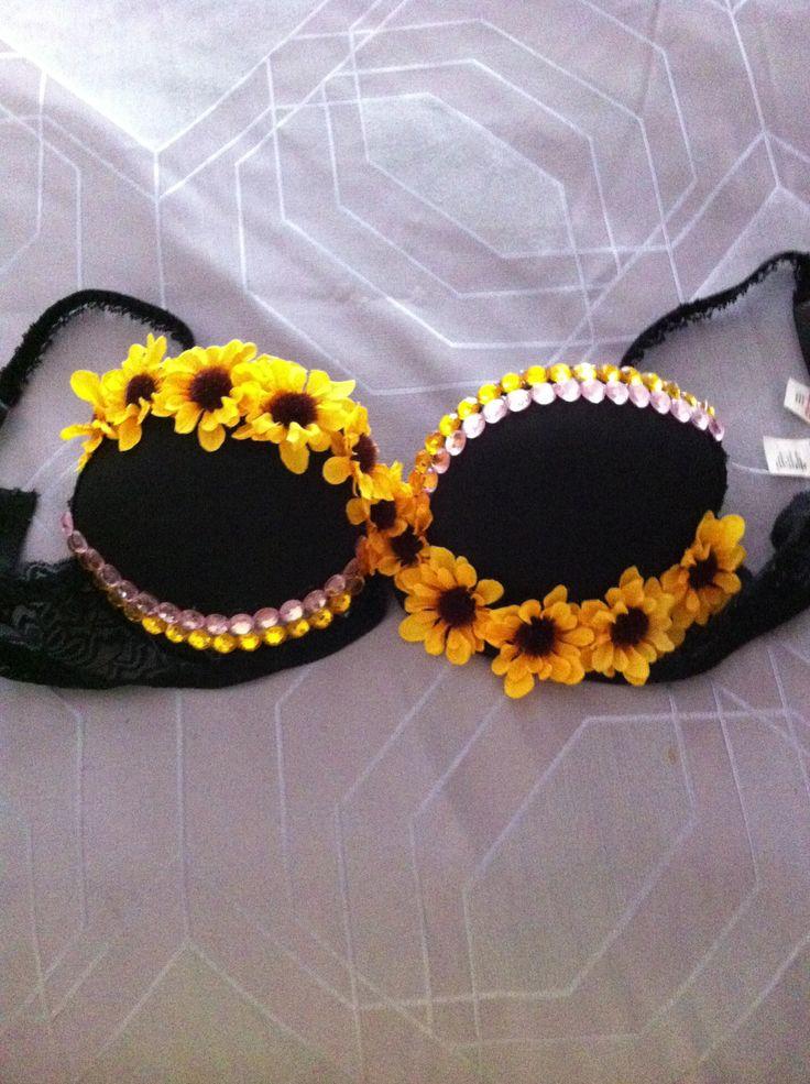 simple sunflower bra