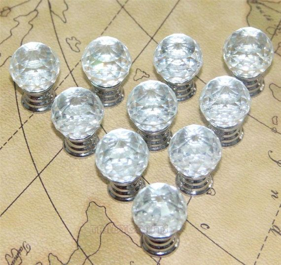 138 best Crystal and Glass Knobs Handle images on Pinterest