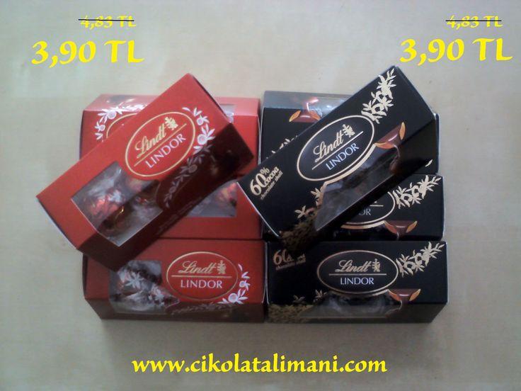 Çikolata Limanı'nda şok kampanyalar   Lindt Lindor Süt ve %60 Kakao Doldulu Çikolata  www.cikolatalimani.com