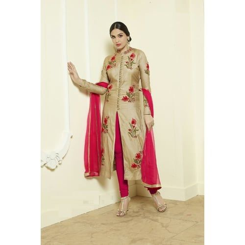Shop Premium Attractive Cream & Pink Glace Cotton Embroidered Straight Salwae Suit With Dupatta by Taboody Empire online. Largest collection of Latest Salwar Suits online. ✻ 100% Genuine Products ✻ Easy Returns ✻ Timely Delivery