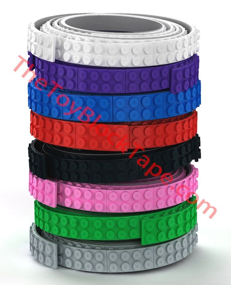 The Toy Block Tape® Flexible, Cuttable, 3D Adhesive Lego Tape