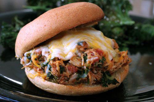 Italian!!! Pulled Chicken Sandwich