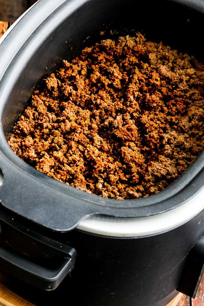 Slow Cooker Taco Meat Kalyn S Kitchen Recipe Crock Pot Tacos Ground Beef Tacos Crockpot Taco Meat