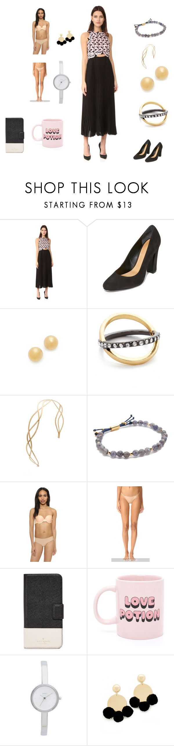 """""""Black and White Fashion Sale"""" by camry-brynn ❤ liked on Polyvore featuring Giambattista Valli, Schutz, Kate Spade, Madewell, Gorjana, Calvin Klein Underwear, ban.do, DKNY and Elizabeth and James"""