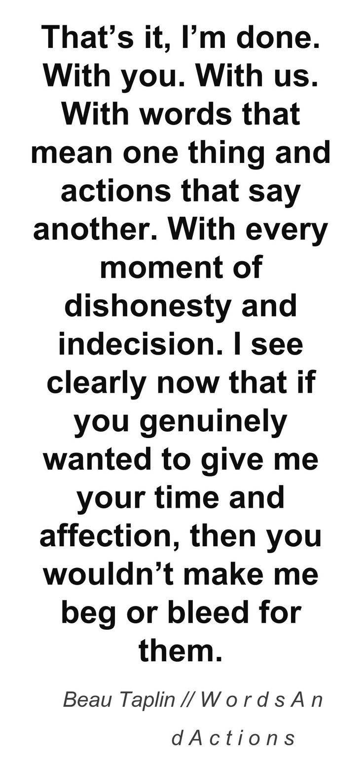 Beau Taplin  Words And Actions ++++++++++