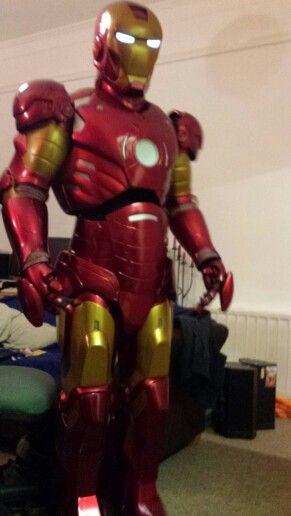 David Western as Ironman Friday 4th of December 2015. #partyheros of Bath.