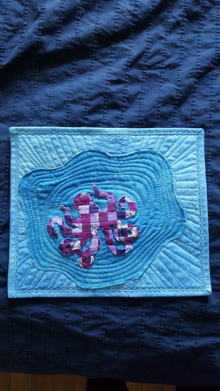 Mini quilted octopus