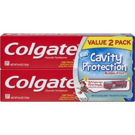 Colgate Kids Bubble Fruit Cavity Protection Toothpaste, 4.6 oz, (Pack of 2), White