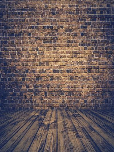 Kate Brown Brick Wall Old Wood Backdrops For Studio