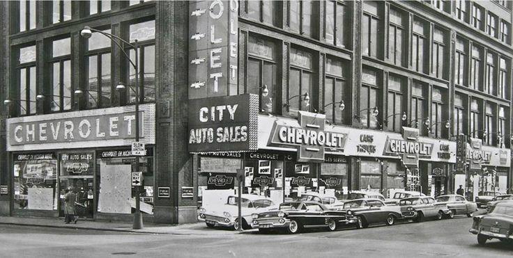 212 best vintage car dealership images on pinterest old school cars antique cars and car. Black Bedroom Furniture Sets. Home Design Ideas