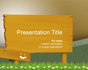 Wood billboard PowerPoint Template is a free bulletin board template for PowerPoint with wood background in the PPT template