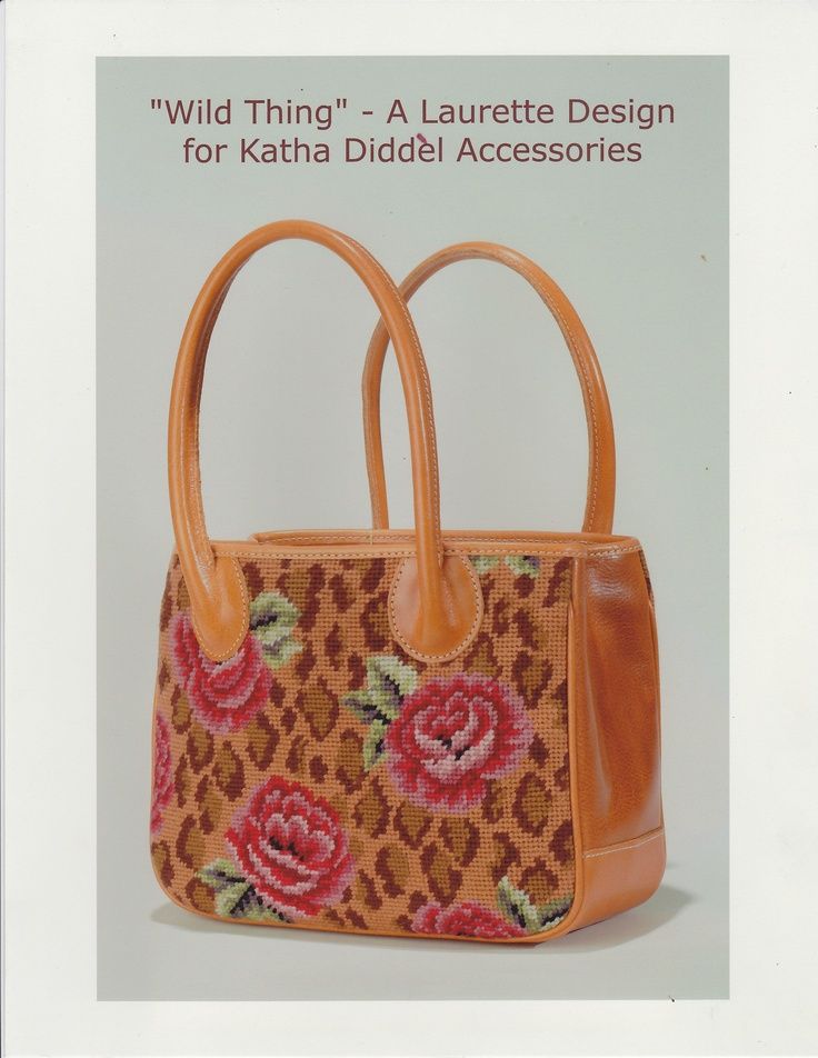 """Tote in """"Wild Thing"""" - A Laurette Design for Katha Diddel Accessories"""