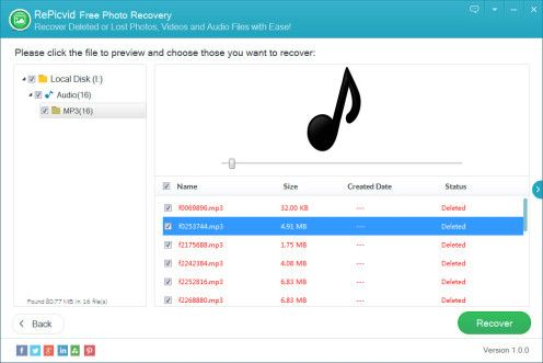 Accidentally deleted your precious MP3 audio files from your memory card or other storage devices? Don't panic! Just go to professional recovery software for help immediately. The operations are also appropriate for Mac users.