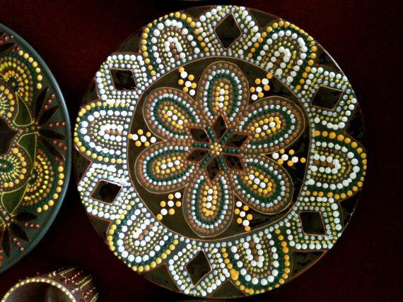 Hand painted mandala style  decorative by ElenaPrikhodkoKnapp, $55.00