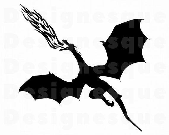 Fire Breathing Dragon 2 Svg Dragon Svg Dragon Clipart Etsy In 2021 Dragon Silhouette Fire Breathing Dragon Fire Drawing