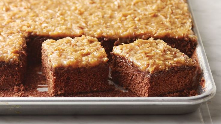 Easy German Chocolate Sheet Cake Recipe