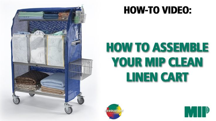 This video is an instructional video on How-to assemble MIP's Clean Linen Cart.  The MIP Clean Linen Cart is part of the REVOLUTION linen System  For more information on our REVOLUTION LINEN SYSTEM: http://mipinc.info/jointherevolution/