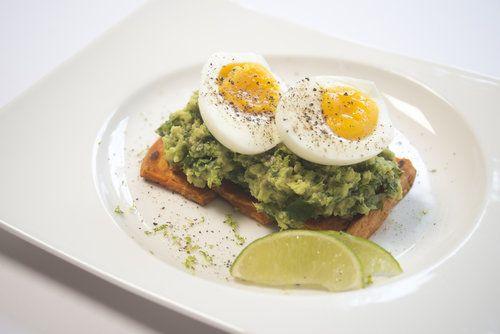 soft boiled egg and avocado