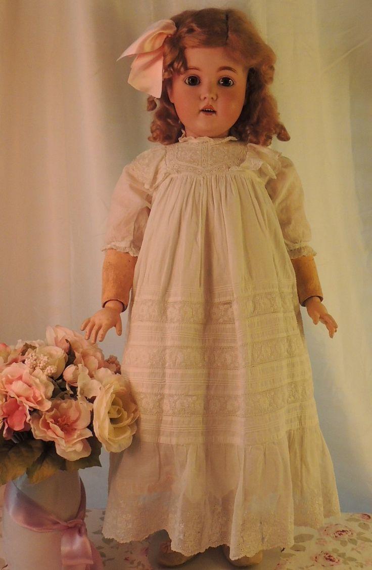 Kestner 171 Antique German Bisque Doll 31 Large Plaster Pate Antique Dress | eBay