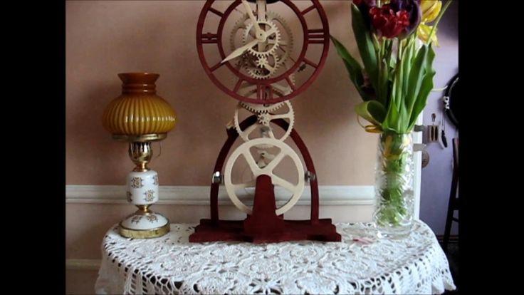 Large balance Wheel Wood Clock - Roman  Kowalski   24.02.2017   ViaRoma