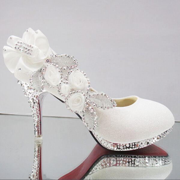 8 / 10 cm 2015 Glitter lindo casamento Evening partido cristal salto alto calçados femininos Sexy mulher bombas de moda sapatos de noiva 8 cores em Scarpins de Sapatos no AliExpress.com | Alibaba Group