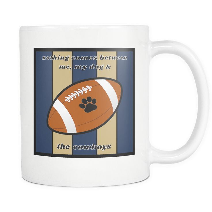 Dog Themed Mug - NFL Dallas Cowboys On White