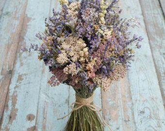 Lavender White Dried Flower Bouquet von EnglishFlowerFarmer auf Etsy