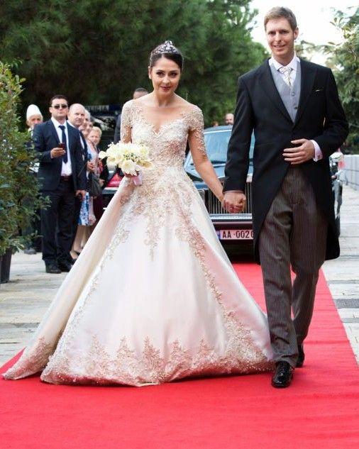 Wedding ceremony of Crown Prince Leka II and Miss Elia Zaharia in Tirana, Albania.