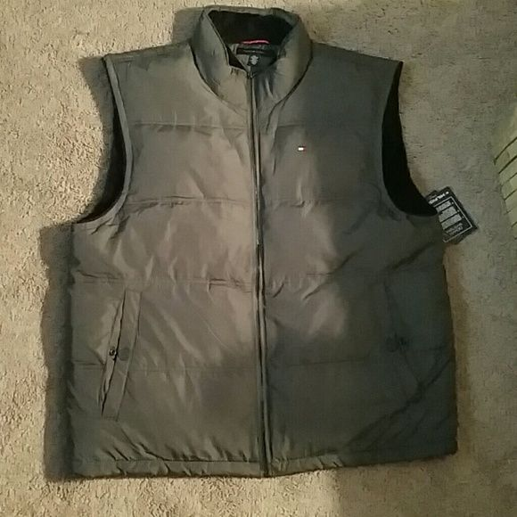 Tommy Hilfiger coldstop 2 mens winter vest. Cold stop 2  men's fall / winter warm vest. Super soft and warm. New never worn still has original tags from Macy's. No flaws or stains... Perfect Christmas gift! Tommy Hilfiger Jackets & Coats Vests
