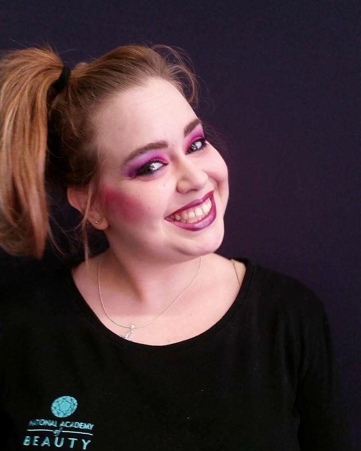 #80s inspired look  #pink #costume #halloween #makeup #MUA