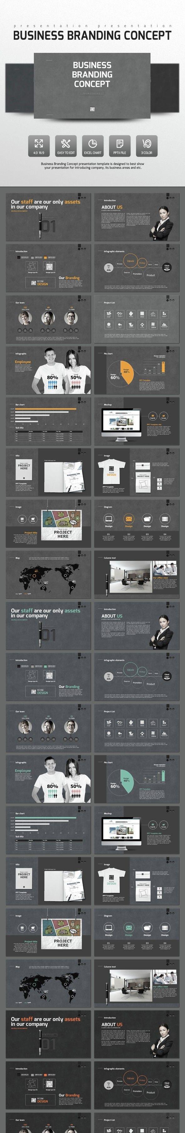 branding business chart concept data design direction