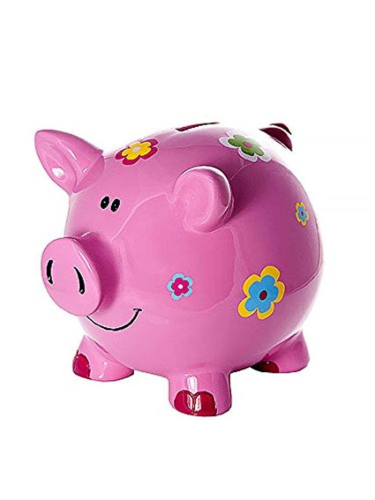 Large Adult or Kids Pink Pig Piggy Bank Money Box Coin Savings Bank for Girls Gifts -- Awesome products selected by Anna Churchill