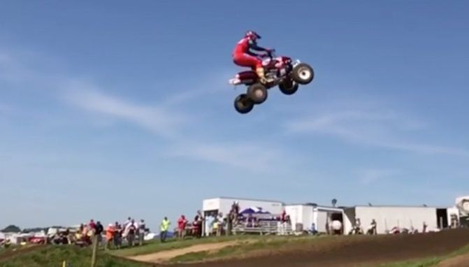 Jumping the Huge Triple at Muddy Creek in Slow Motion + Video - ATV.com