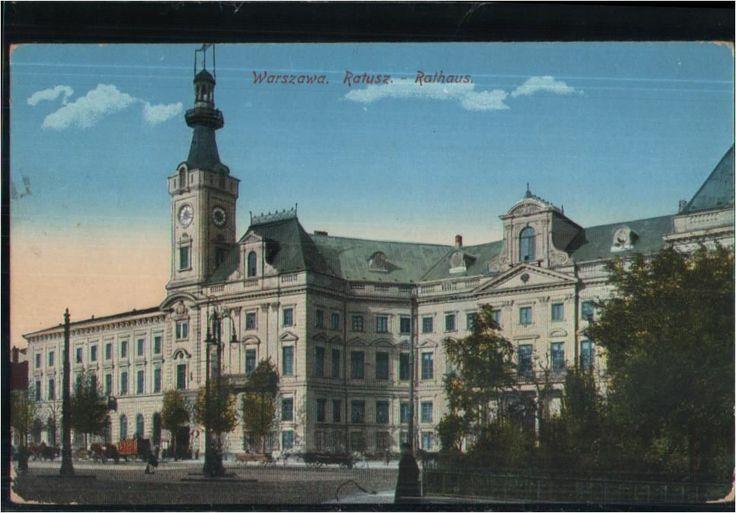 132.001  Warschau, Warszawa, Rathaus, Feldpost-AK