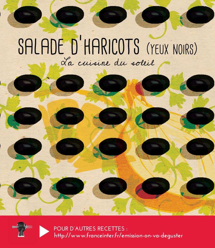 """SALADE D'HARICOTS YEUX NOIRS : une recette grecque conseillée par Vassilis Alexiou dans """"On va déguster"""" sur France Inter - RECETTE ICI : http://www.franceinter.fr/emission-on-va-deguster-cuisine-du-soleil-4-eme-volet-la-grece"""