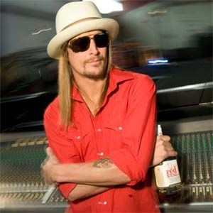Kid Rock, our July 2011 cover man, with his go-to Red Stag Jim Beam