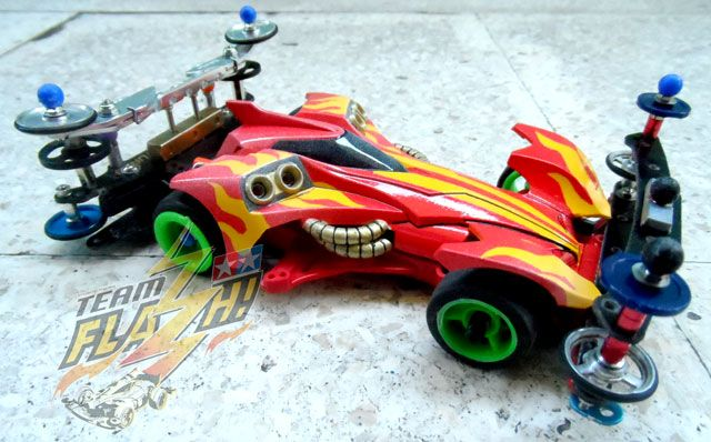 HotRod Stinger, custom body paint and tested setup for the rear stay using down-thrust rollers