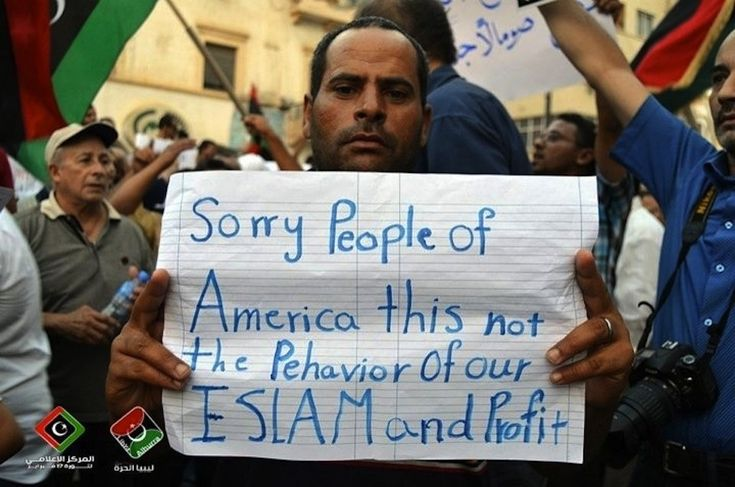 Libyans Apologizing To Americans: why doesn't the news show the decent people in the Middle East?