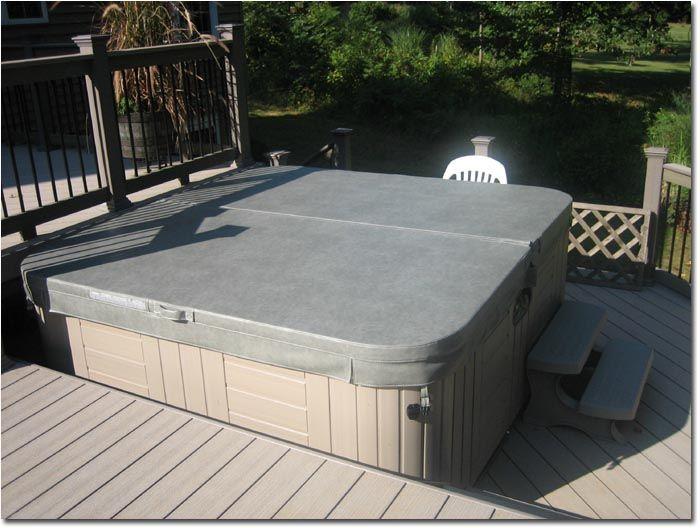 Deck With Hot Tub Plans Builders Bi Level Deck Bi