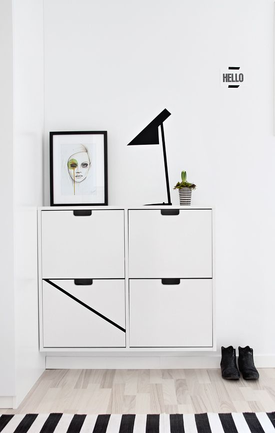 Minimal styling of Ikea 'Ställ' shoe storage