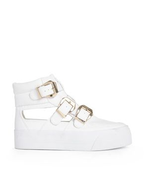 ASOS DARK SIDE Hi Top Flatform Trainers